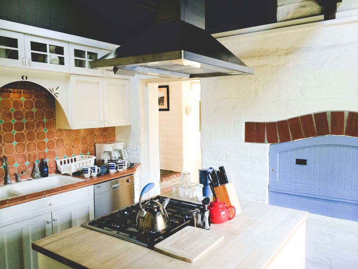 Adobe on Green kitchen