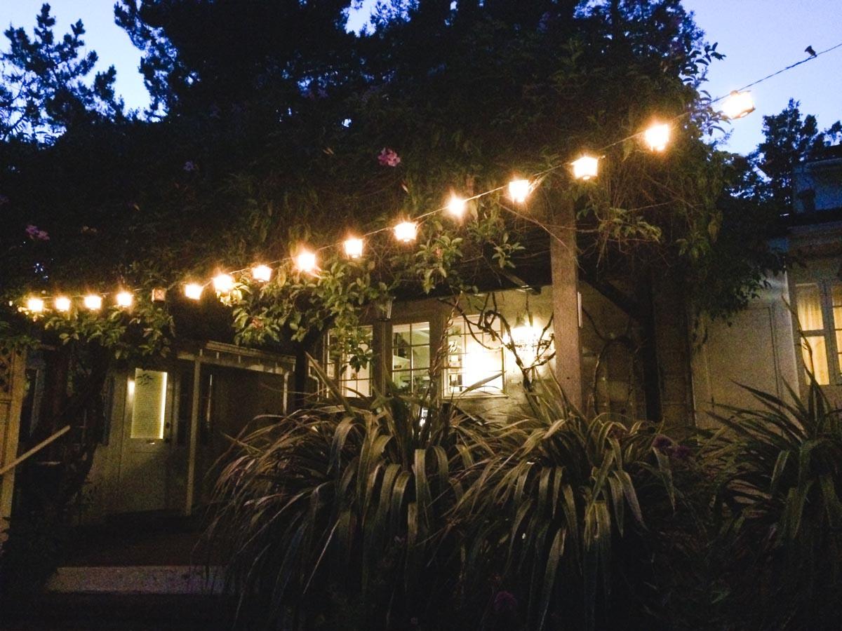Adobe on Green patio lights