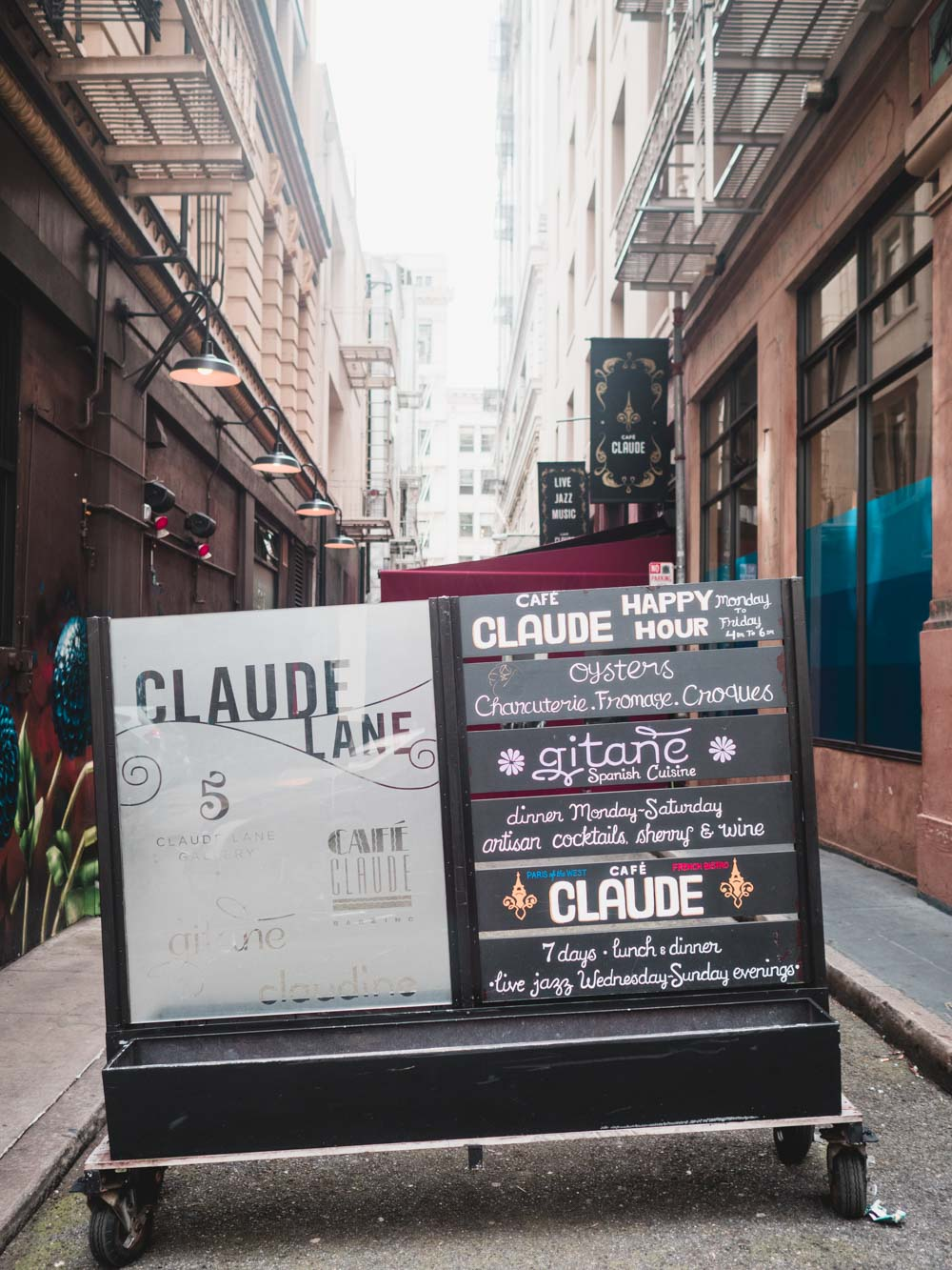 Claude Lane Sign in the Alley, San Francisco | Carla Gabriel Garcia