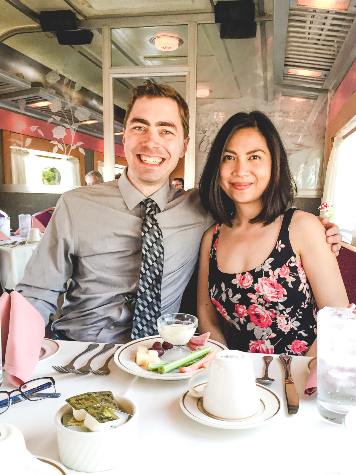 Derek & Carla on the Dinner Train | Baldwin, KS | Carla Gabriel Garcia