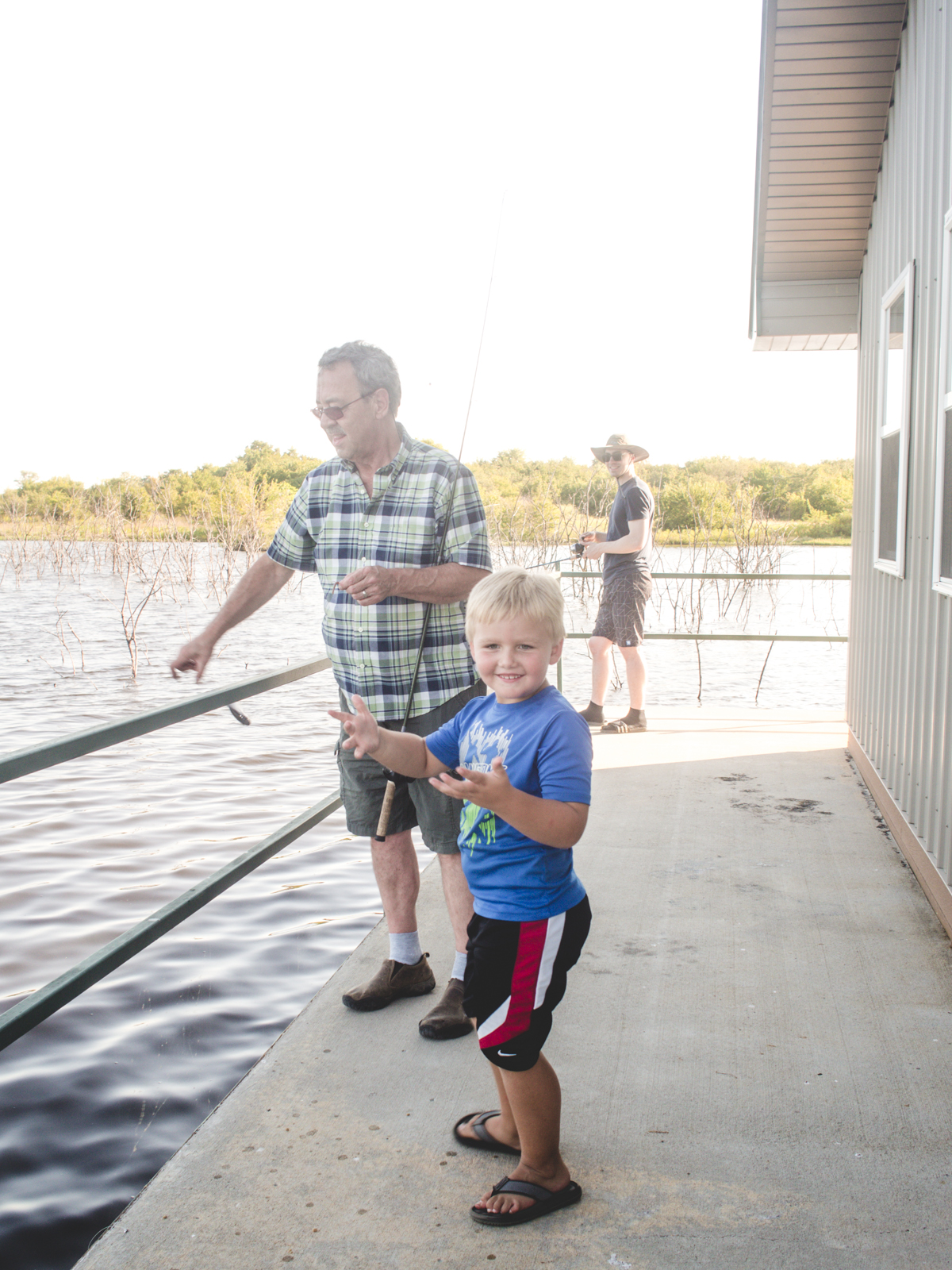 Grandpa, Grandson Fishing | Lil Toledo Lodge, Chanute, KS | Carla Gabriel Garcia
