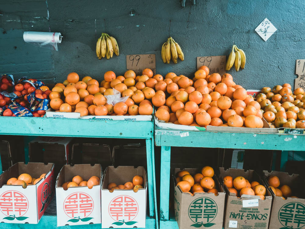 Bananas and Oranges in Chinatown, San Francisco | Carla Gabriel Garcia