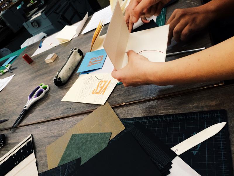 stitching-up-notebook
