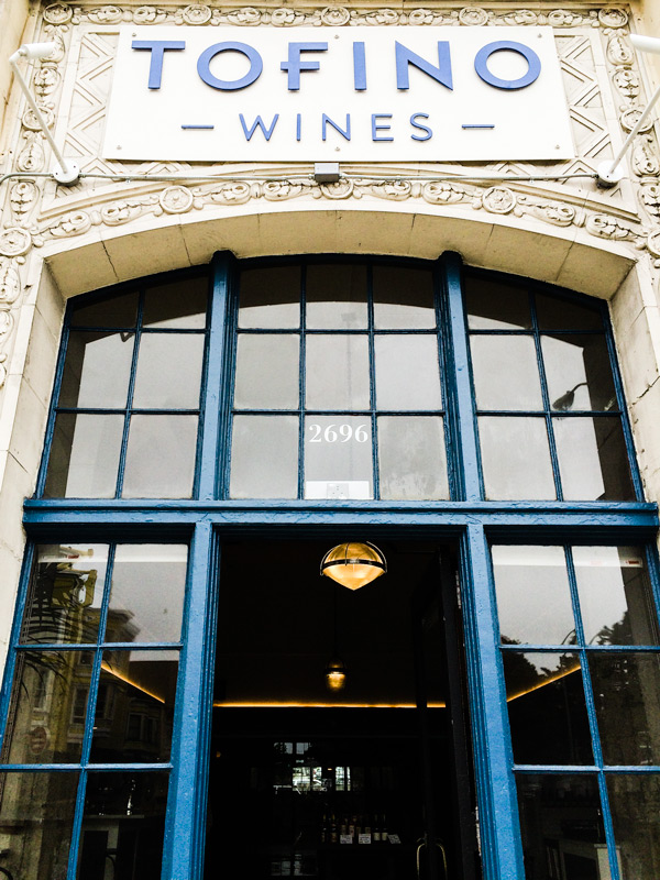 Tofino Wines entrance | Photography by Carla Gabriel Garcia